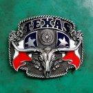 Texas Flag Bull Head Western Cowboy Cowgirl Belt Buckle For Men