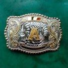 Big Size Gold A Initial Letter Cowboy Metal Belt Buckle For Men's Jeans Belt Head