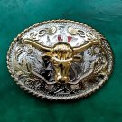 3D Lace Gold Bull Head Cowboy Metal Belt Buckle For Men's Jeans Belt Head