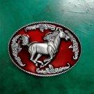 3D Running Red Horse Luxury Cowboy Belt Buckle For Mens Jeans Western Belt Head