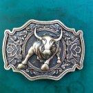 Bronze Bull Animal Western Cowboy Belt Buckle For Men