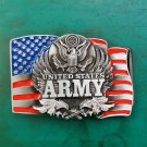 US Army Flag Eagle Western Cowboy Belt Buckle For Men