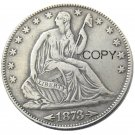 US 1873 Liberty Seated Half Dollar Silver Plated Copy Coins