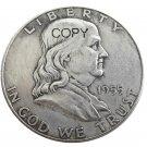 US 1955 Franklin Half Dollar Silver Plated Copy Coins