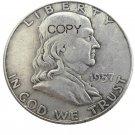 US 1957 Franklin Half Dollar Silver Plated Copy Coins