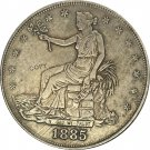 United States America 1885 Trade One Dollar 420 Grains 900 Fine Copy Coins