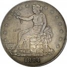 United States America 1884 Trade One Dollar 420 Grains 900 Fine Copy Coins