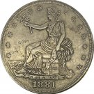 United States America 1881 Trade One Dollar 420 Grains 900 Fine Copy Coins