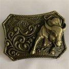 3D Bull Animal Western Cowboy Belt Buckle For Men