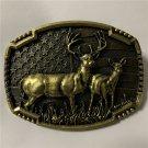 3D Deer Animal Western Cowboy Belt Buckle For Men