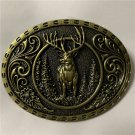 Forest Deer Animal Western Cowboy Belt Buckle For Men