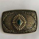 Floral Design Western Cowboy Belt Buckle For Men