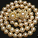 Graceful Natural Golden-Sea-Pearl Necklace