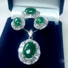 Noblest emerald jade necklace jewellery