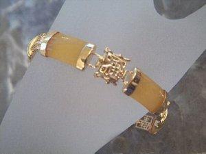 Noble jewellry gilding gem yellow jade bracelet bangle
