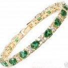 charming Green Jade Emerald bangle Bracelet