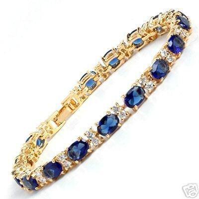Exquisite Blue Stone Sapphire Bracelet