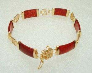 Beautiful red jade bangle bracelet