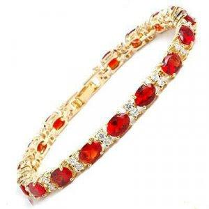 Exquisite red jade ruby bracelet