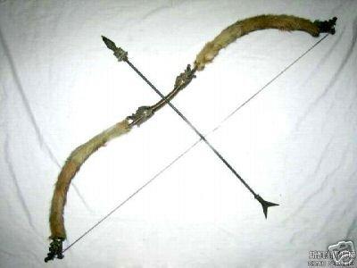 Rare Tibetan sheep skin bronze bow and arrow