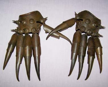 Old Tibetan Bronze Paw pair