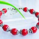 Charming Tibetan Silver Red Coral Bracelet