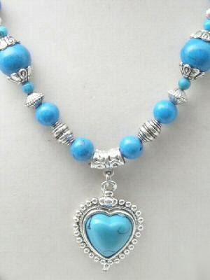 Charming Tibet Silver Turquoise Necklace