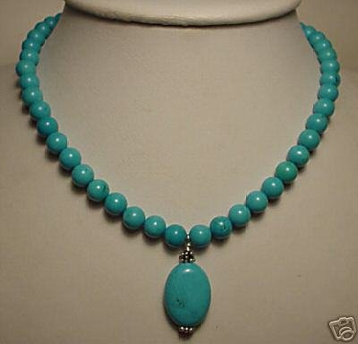 Beautiful turquoise beads necklace pendant