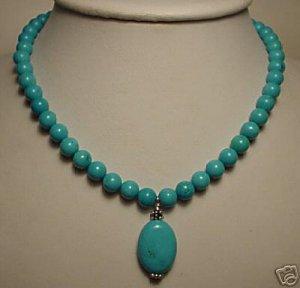 Beautiful turquoise beads necklace pendant