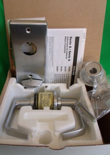 Schlage Cylindrical Lock Lever S200 Series S210LD SAT 626 Satin Chrome Entrance