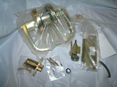 SARGENT 28 65G05 KL 03 ENTRANCE OFFICE LEVER LOCKSET POLISHED BRASS CLEAR COAT