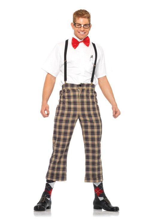 Sku 85033 4 PC  Naughty Nerdy Mens Costume Size Large