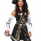 Sku 85210  4 PC Black Sea Buccaneer Costume Size Small