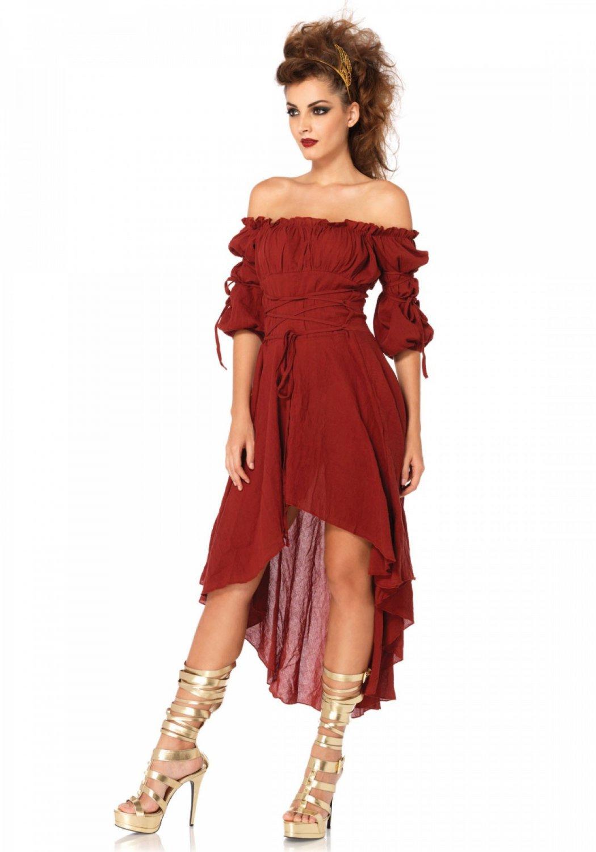 Sku 2700  Gauze High Low Peasant Dress ML