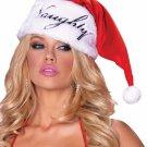 Sku A1937  Naughty or Nice Plush Santa Hat