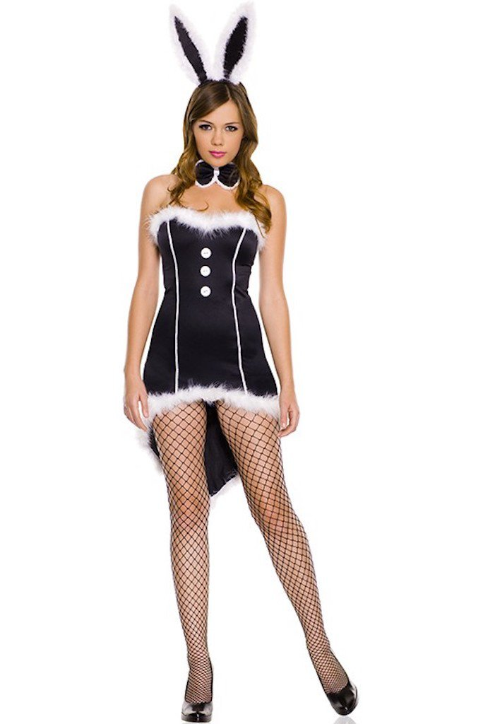 Sexy Black Tie Bunny Costume Halloween Costumes Drtuber 1