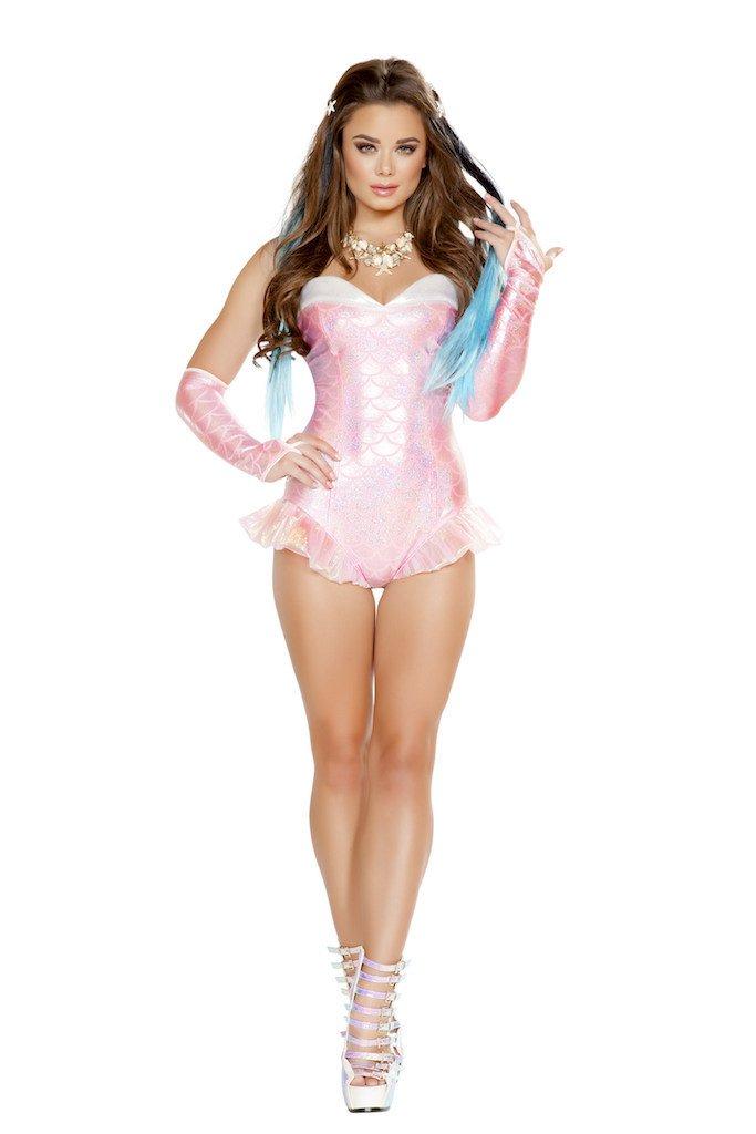 Sku 4661 1 PC Pink  Mermaid Costume Size Large