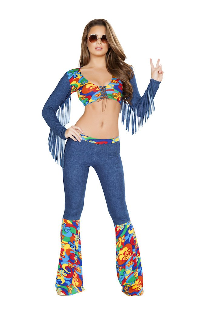 Sku 4749 2 PC Groovy Love Child Costume Size Small