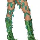 Sku R4642 Green Leaf Thigh Wraps