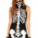 Sku 86661  2PC.Skeleton garter dress Size S/M