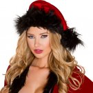 Sku C181 Red/Black Fur Trimmed Hat