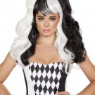 Sku WIG104 Jester Black/White Wig