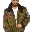 Sku TG86762 Top Gun Mens Nylon Bomber Jacket Size XLarge