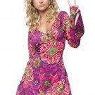 Sku 83048  2 PC Hippy Girl Costume Size SM