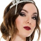 Sku 70613 Faux Rhinestone Silver plated flapper headband