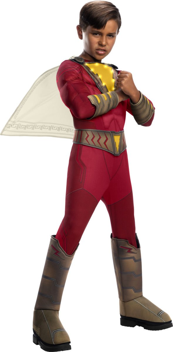 Sku 700800 Kids Shazam Deluxe Shazam with Lights Costume Size Large