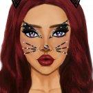 Sku eye031 Animal Adhesive Face Jewels Sticker