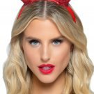 Sku A2883 Latex Glitter Devil Horn Headband