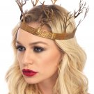 Sku A2809  Metal Fantasy Forest Crown