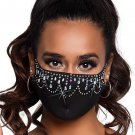 Sku M1002 Women's Rhinestone Fashionable Face Mask
